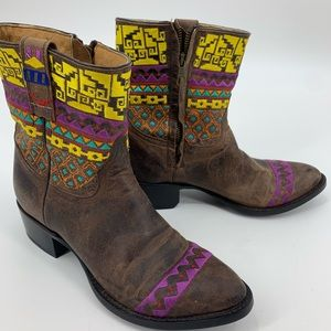 Johnny Ringo Womens booties ankle boot embroidery